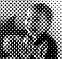 Halftone Dots Version Of The Photo